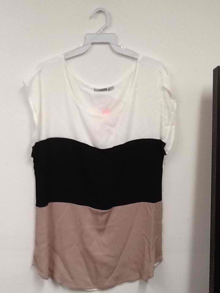 Cream, Black and Tan Shirt