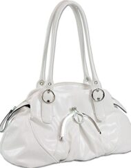 Soft Fashion Shoulder Hand Bag Purse White 15