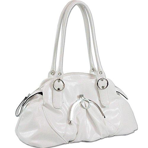 Soft Fashion Shoulder Hand Bag Purse White 15