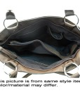 Women Inspired 2 Tone Fashion Tote Purse Hand Bag Brown 2