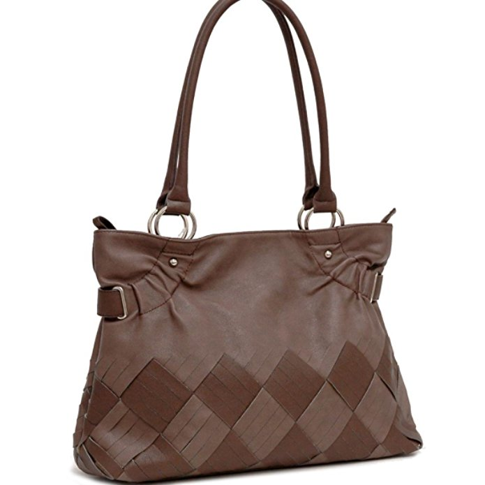 d2526654066 Women Inspired 2 Tone Fashion Tote Purse Hand Bag Brown | Purse And ...