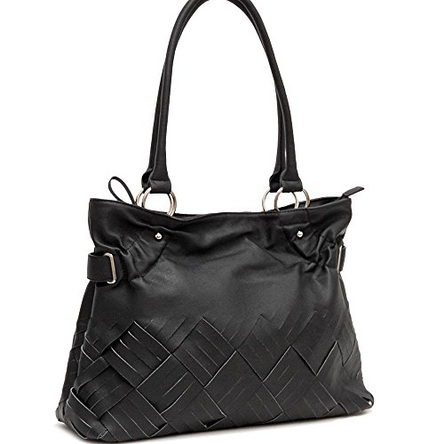 Women Inspired Fashion Tote Purse Hand Bag Purse Black a